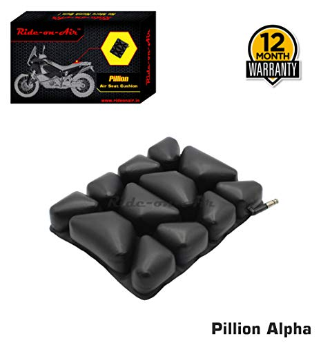 Ride-on-Air ™ - Pillion - Alpha - Motorcycle Air Seat Cushion - 1 Year Warranty & Lifetime Repair Support