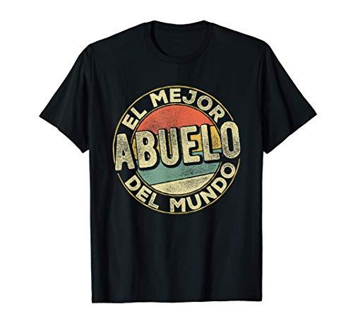 Hombre Día del Padre Hombres El mejor abuelo del mundo Abuelo Camiseta