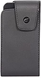 Premium Black Leather Case Cover Protective Pouch Belt Holster Swivel Clip for Huawei Ascend G7 - Huawei Ascend Mate 7 - Huawei Honor 6X - Huawei Honor 7X