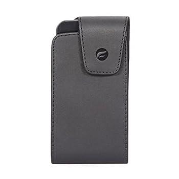 Black Leather Phone Case Cover Pouch Holder Holster Swivel Belt Clip for Verizon Casio G-Zone Commando 4G LTE - Verizon HTC Rezound - Verizon LG Lancet - Verizon LG Lucid 3