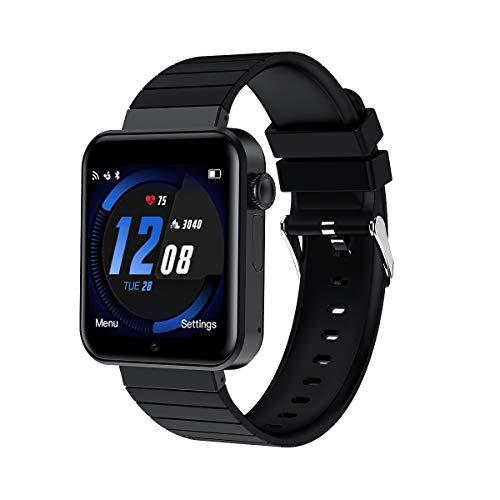 Smartwatch Android, Relojes Inteligentes Masculinos y Femeninos Relojes Deportivos Bluetooth con Cámara Podómetro y Ranura para Tarjeta SIM para Android Samsung Xiaomi Huawei (Negro)