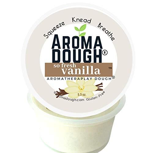 Aroma Dough Therapy Dough – Vanilla Essential Oil Play Dough – Gluten-Free & Non-Allergenic – Child & Adult Therapy Tools – Reduce Stress & Anxiety – Sensory Fidget Room Equipment