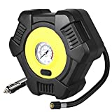 BuTure Portable Tire Inflator, Mini Air Compressor Tire Pump with Gauge, 12V DC Auto Tire Inflator for Car, Bicycle, Motorcycle, SUV,Basketball and Other Inflatables