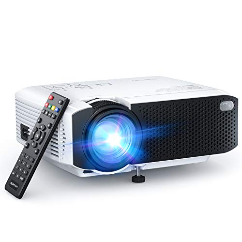 APEMAN LC350 Mini Projector, 2021 Upgraded 4500L Brightness, 1080P and 180' Display Supported, Portable Movie Video Projector, 55,000Hrs LED Life, Compatible with TV Stick, VGA, PS4, HDMI, TF, AV, USB