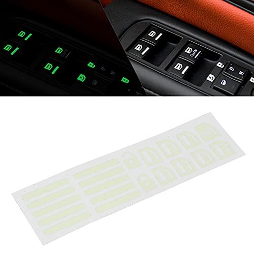 Etiqueta engomada del botón del interruptor de la ventana, etiqueta engomada luminosa del botón del elevador de la ventana para la mayoría de los modelos de automóvil para el botón del