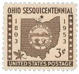 #1018 - 1953 3c Ohio Statehood Postage Stamp (Single Stamp)