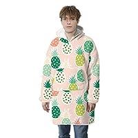 パーカースウェットシャツブランケット、特大の超柔らかく暖かく快適な大きなパーカー、男性、女性、ティーンエイジャーに適しています,green,adult