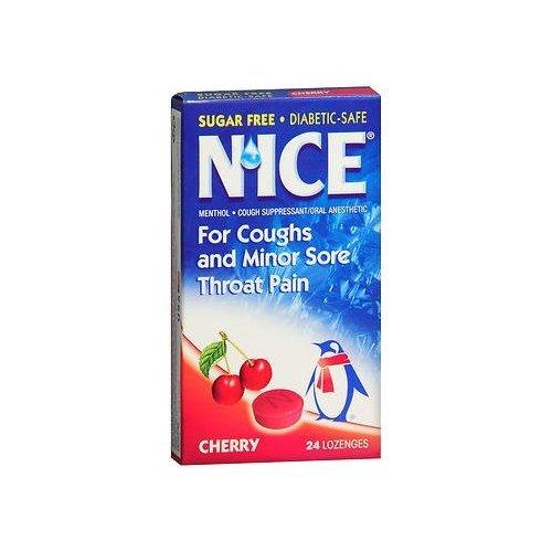 N'ice Lozenges Sugar Free Cherry - 24 lozenges
