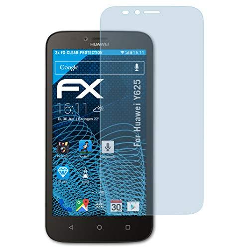 atFolix Schutzfolie kompatibel mit Huawei Y625 Folie, ultraklare FX Bildschirmschutzfolie (3X)