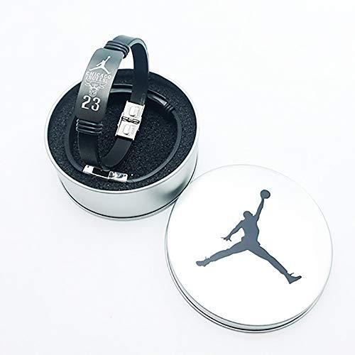 YTBLF Basketball Sterne Armband Eisen Box Kobe Curry James Silikon Sport Armband Armband,Jordan