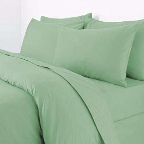 Rohi Easy Care Plain Duvet Cover, Quilt Cover Set with Pillowcases, Bedroom Bedding Bed Set (Double, Mint)