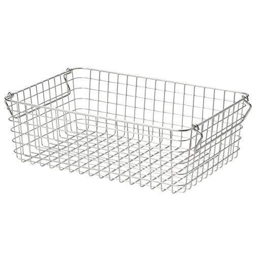 Muji Stainless Steel Wire Basket, 26 cm Length x 37 cm Width x 12 cm Height