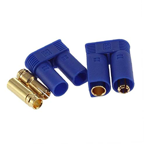 1 Par Ec5 Bala Conectores Enchufes Adaptadores Hombre Mujer Losi Estilo 5mm
