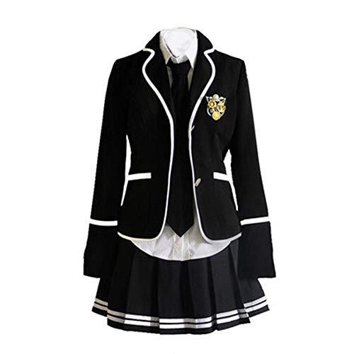Schuluniform Cosplay Mädchen Rock Jacke Hemd (L, 13)