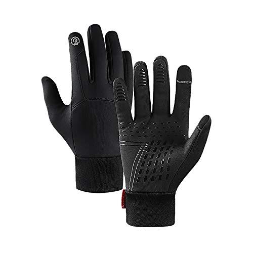 Oppal Touchscreen Winter Handschuhe, Verdickte Winterhandschuhe Laufhandschuhe Outdoor Fahrradhandschuhe Sporthandschuhe Vollfinger Handschuhe für Damen und Herren (L)