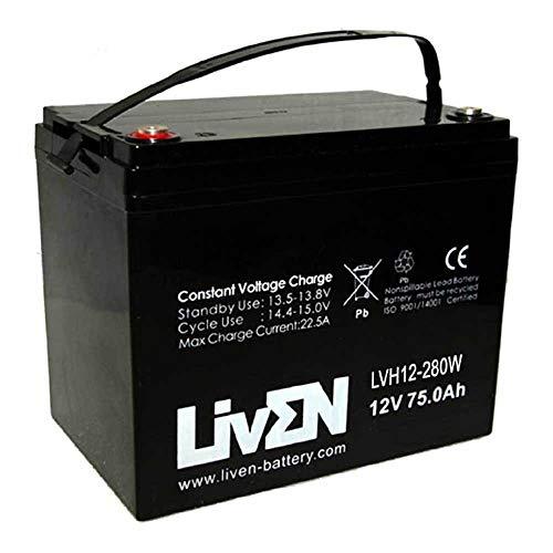 Batería AGM 12V 75Ah C-20 Sin Mantenimiento - Equipos Seguridad/Médicos/SAI/Comunicación/Emergencia