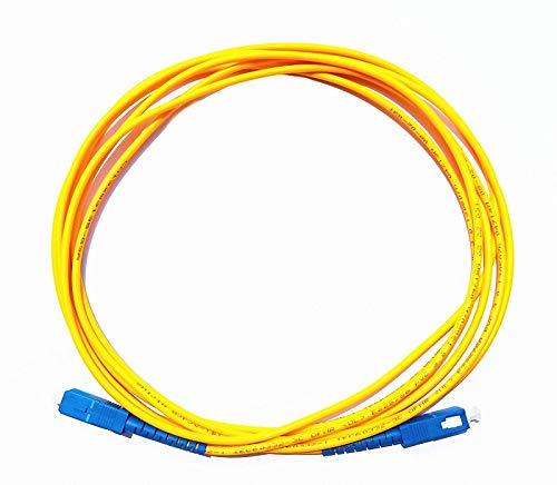 Linq Cable DE Fibra OPTICA SC-SC PC 10 Metros TELEFONO Conector Optico...
