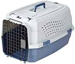 Two-door, top-load model allows for easy loading of your cat or dog Measures 23 * 15 * 13in Top door can open to the left or right for easy access and convenience Included screws can be used to further secure the top and bottom of kennel for added re...
