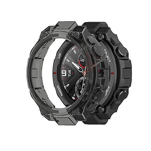 LvBu Schutzhülle kompatibel Für Amazfit T-Rex, All-Aro& Hülle Ultra dünn TPU Schutz Hülle für Amazfit T-Rex Smartwatch (schwarz)