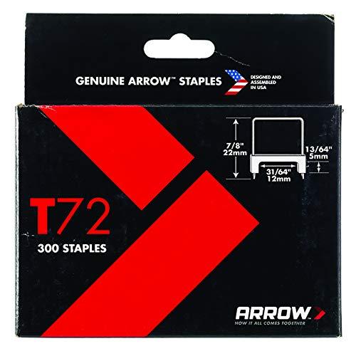 Pfeil a721168isoliert Heftklammern, T72, 5mm x 12mm (300Stück)
