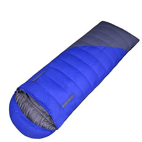 RongDuosi rood en blauw outdoor volwassen envelop naar beneden slaapzak kan worden gespeld dubbele eend naar beneden 0-15 graden outdoor apparatuur zwemmen bed