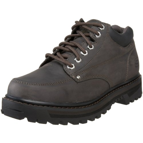 Skechers USA Men's Mariners Lace-Up Boot,Charcoal,7.5 M US