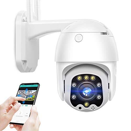 AINSS Cámara de vigilancia IP Exterior,Cámara de Seguridad 4G SIM,CCTV PTZ 1080P HD visión Nocturna,Voz bidireccional,detección de Movimiento,Alarma,para Garaje/Puerta,Impermeable (Cámara 4G)