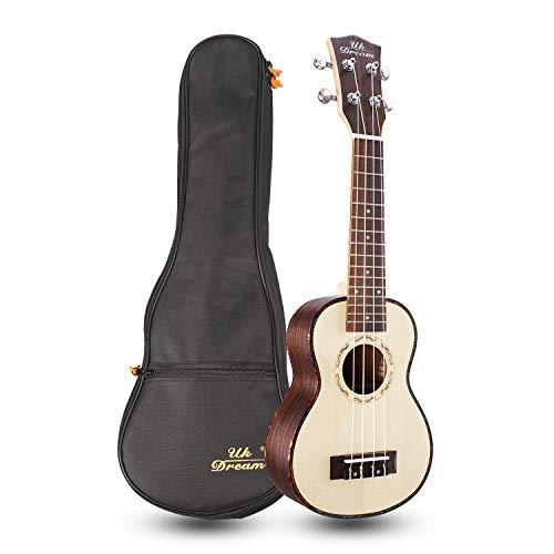 Uk Dream 21 pollici Ukulele Musical Instrument 15 Frets Mini Chitarra Prezzo Semi-chiuso Rotary Chitarre di alta qualità Classic 4 corde US-53A