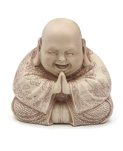Majestic Praying Happy Buddha Statue (Stone)