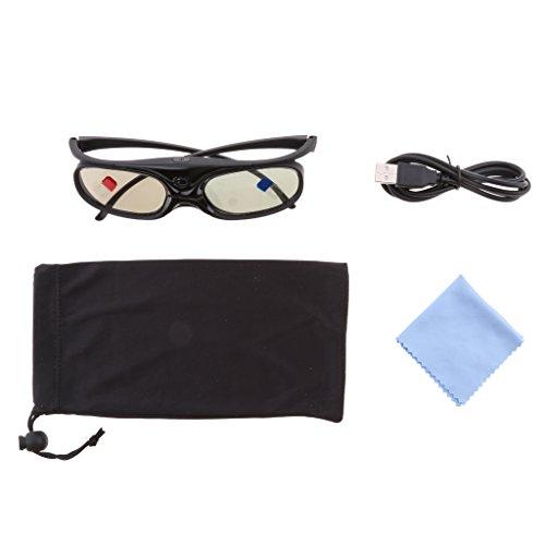 balikha 3D Active Shutter Brille Schwarz