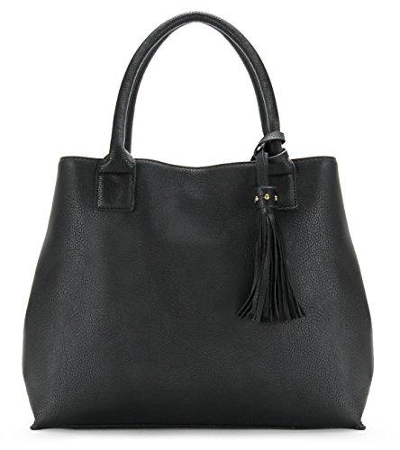 Scarleton Studded Tote Bag, Shoulder Bag H202001 - Black