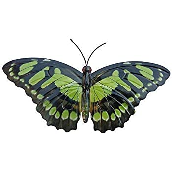 Primus Grand vert métal jardin papillon décoration murale pour extérieur Clôtures cabane murs: Amazon.es: Hogar