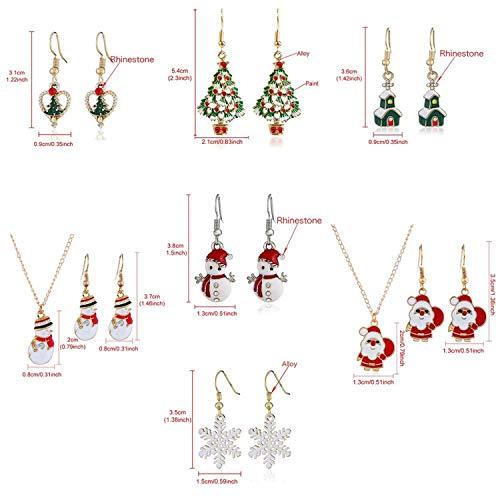 『イヤリングネックレスクリスマスインテリアサンタクロースイヤードロップペンダントクリスマスインテリア用-87-9-』の4枚目の画像