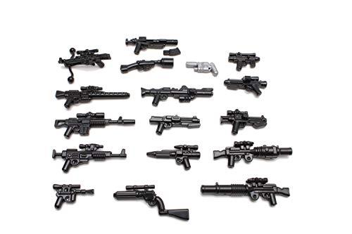 BrickArms Star Wars™ Blaster Waffenset, Custom Waffen kompatibel mit Lego® Minifiguren