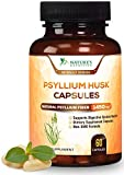 Psyllium Husk Capsules - 725mg per Capsule - Premium Psyllium Fiber Supplement - Made in USA - Natural Soluble Fiber Pills, Helps Support Digestion & Regularity - 60 Capsules