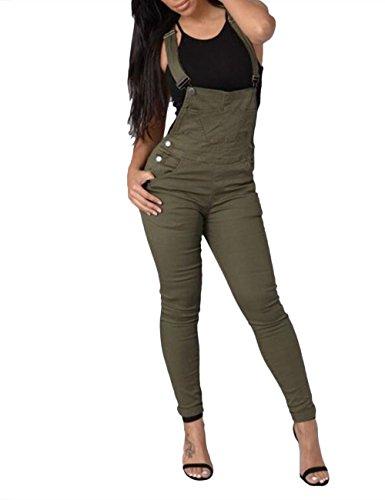 SOMTHRON Vrouwen Sexy Pinafore Slim Denim Dungarees Verstelbare Jumpsuits Jeans Rompers Skinny Lange Broek Mouwloos Lange Potlood Jeans Broek met Zakken