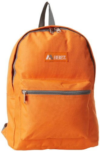 Everest Basic Backpack, Orange, One Size