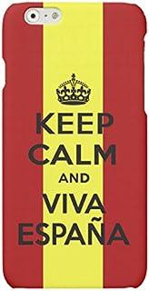 Funda Carcasa Keep Calm Viva España para iPhone 6 6S plástico rígido