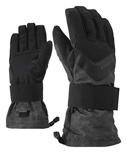 Ziener Handschuhe Milan Snowboard, Herren Einheitsgröße Magnet Tarnfarbe Druck