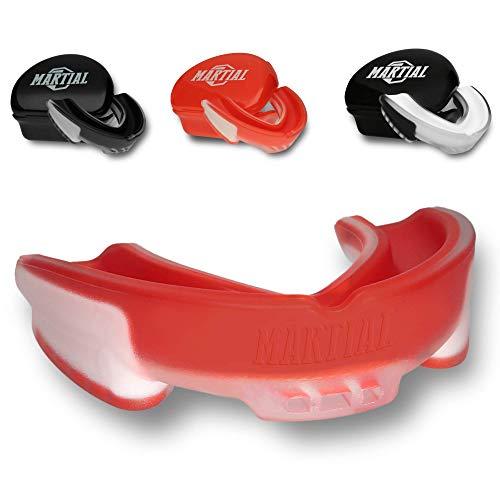 Martial Vindicator Mundschutz für ideale Atmung & leicht anpassbar! Zahnschutz in verschiedenen Formen. Für Kampfsport, MMA, Boxen, Kickboxen, Hockey, Football - Erwachsene