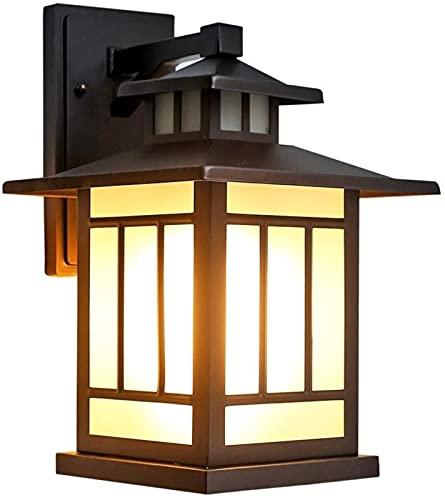 DZCGTP Linterna de Pared Exterior Marco de Aplique de Pared Impermeable con Accesorios de Pantalla de Vidrio Luz Exterior Moderna para casa Lam montado en la Pared Exterior