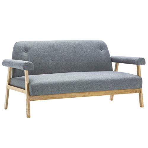 Xingshuoonline - Sofá de 3 plazas de Tela Gris Claro para Oficina, sofá, salón, sofá