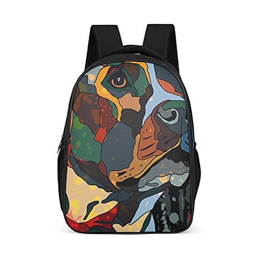 Mochila escolar para niños pequeños, diseño de perro carlino de colores
