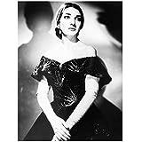 WTHKL Maria Callas Opernsängerin Schwarz Weiß Leinwand