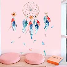 Holly LifePro Feather Wall Decals Peel and Stick Wall Sticker for Home Bedroom Nursery Room Wall Decor