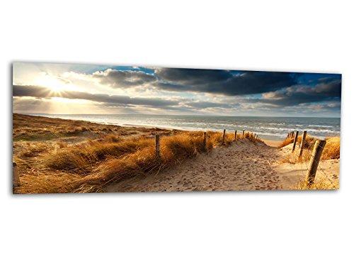 Glasbilder Echtglas Wandbilder Foto auf Glas Nordsee Strand 125 x 50cm AG312502144 / Deco Glass, Design & Handmade/Eyecatcher, Kunstdruck!