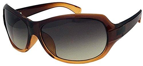 (フェイストリックグラッシーズ) Face Trick glasses IR3128-2SH ハーフレンズタイプ 近赤外線カット・ブルー光線カット・UVカット 超高性能 鯖江メーカーレンズ ブラウン/スモークハーフ