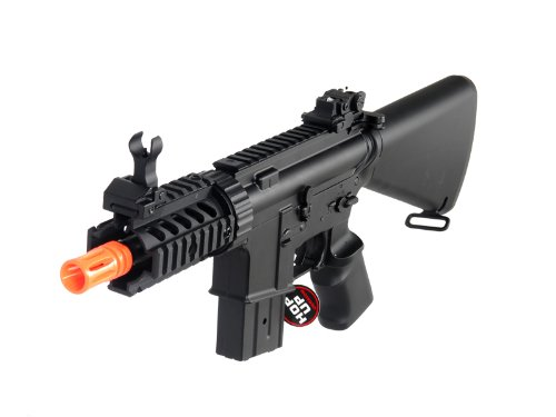 MetalTac Electric Airsoft Gun M4 Stubby CQB JG-F6625 with Metal Gearbox Version 2, Full Auto AEG, Upgraded Powerful Spring 380 Fps with .20g BBS