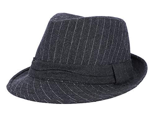IBLUELOVER Chapeau de Melon Homme Femme Chaud Casquette en Feutre Laine Mode Jazz Hat Respirant Pliable Chapeau de Bassin Motif Rayure Hiver Bowler Hats pour Voyage Ceremonie Cadeau de Noël