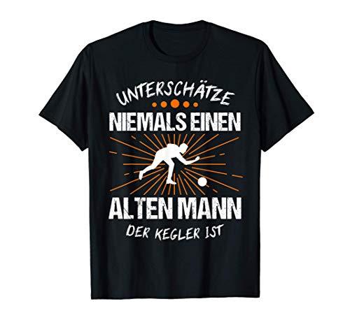Herren Kegler Kegeln Kegelbahn Geschenk T-Shirt